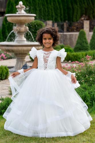 Платье для девочки Виктори Д-1166-белое