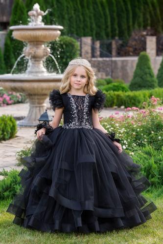 Платье для девочки Виктори Д-1166черное