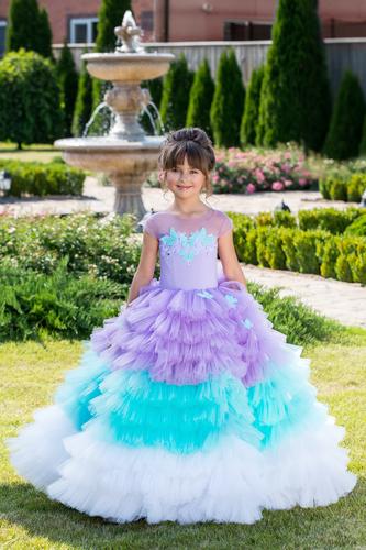 Нарядное платье на девочку Виктори D-1168