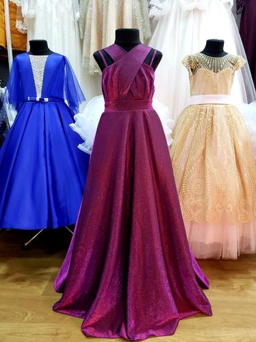 Нарядное платье на девочку  Элла вишневое