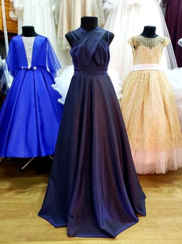 Вечернее платье для девочки Элла синее