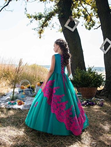Платье для девочки Жоржета Д-481